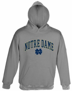 Notre Dame Embroidered Hooded Sweatshirt (Grey)