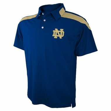 Notre Dame Embroidered Logo Polyester Polo Shirt