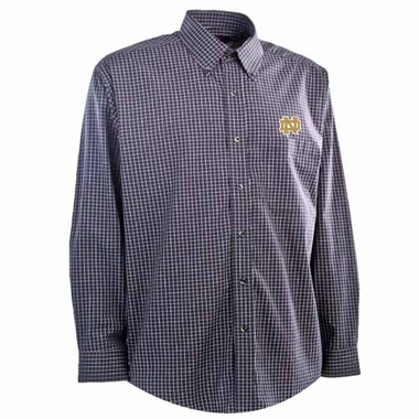Notre Dame Mens Esteem Button Down Dress Shirt (Team Color: Navy)