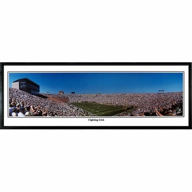 Notre Dame Fighting Irish Framed Panoramic Print
