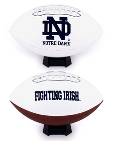 Notre Dame Fighting Irish Full Size Embroidered Football