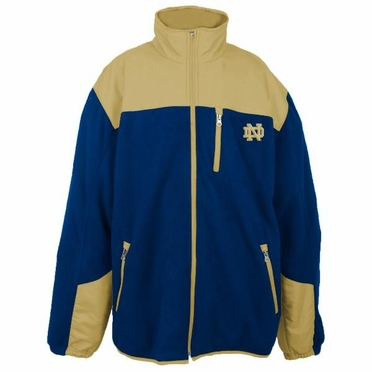 Notre Dame Fighting Irish NCAA Poly Dobby Full Zip Polar Fleece Jacket