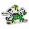 Notre Dame Fighting Leprechaun Cufflinks