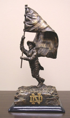 Notre Dame (Flag) Tim Wolfe Statue
