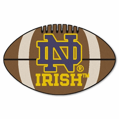 Notre Dame Football Shaped Rug