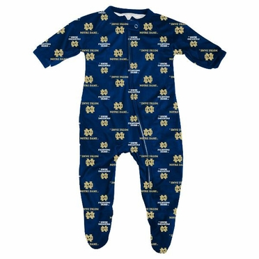 Notre Dame Infant Footed Zip Raglan Coverall Sleeper