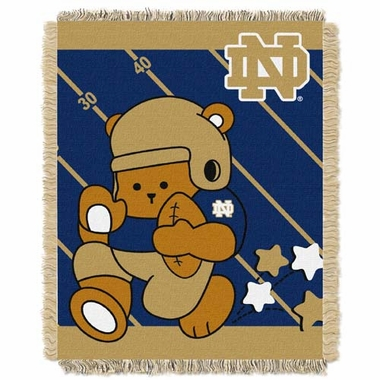 Notre Dame Jacquard BABY Throw Blanket