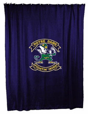 Notre Dame Jersey Material Shower Curtain