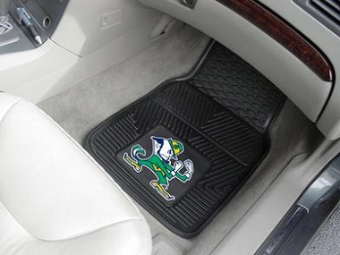 Notre Dame (Leprechaun) 2 Piece Heavy Duty Vinyl Car Mats