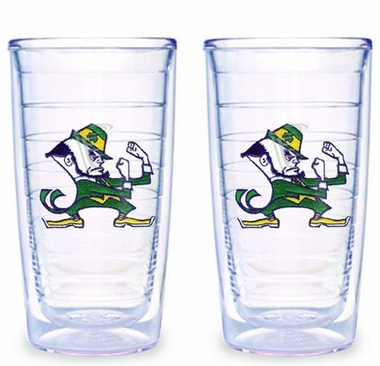 Notre Dame (Leprechaun) Set of TWO 16 oz. Tervis Tumblers