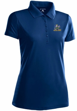 Notre Dame (Leprechaun) Womens Pique Xtra Lite Polo Shirt (Team Color: Navy)