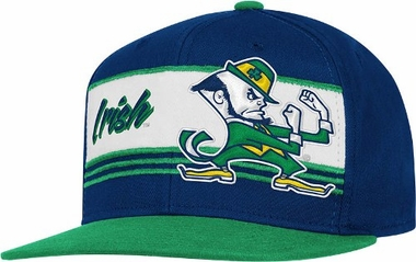 Notre Dame Name & Mascot Adjustable Snap Back Hat