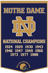 Notre Dame (Navy) Dynasty Banner