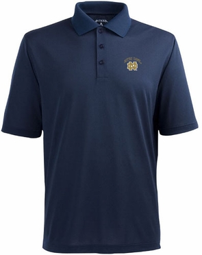 Notre Dame (ND Logo) Mens Pique Xtra Lite Polo Shirt (Team Color: Navy)