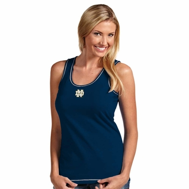 Notre Dame (ND) Womens Sport Tank Top (Color: Navy)