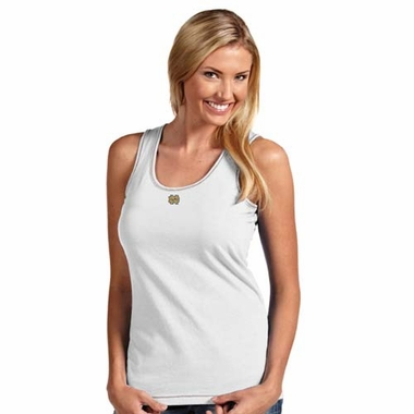 Notre Dame (ND) Womens Sport Tank Top (Color: White)