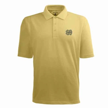 Notre Dame Mens Pique Xtra Lite Polo Shirt (Alternate Color: Gold)