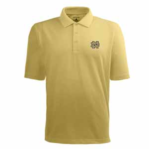 Notre Dame Mens Pique Xtra Lite Polo Shirt (Alternate Color: Gold) - Small