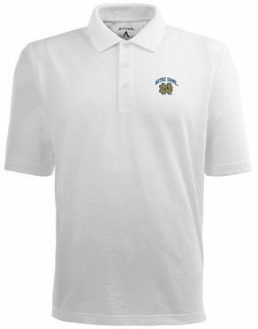 Notre Dame Mens Pique Xtra Lite Polo Shirt (Color: White)