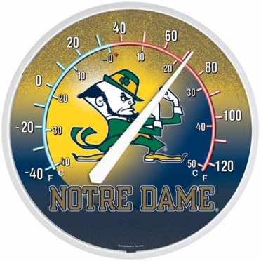 Notre Dame Round Wall Thermometer