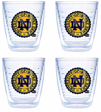 Notre Dame (Seal) Set of FOUR 12 oz. Tervis Tumblers