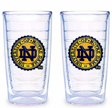 Notre Dame (Seal) Set of TWO 16 oz. Tervis Tumblers