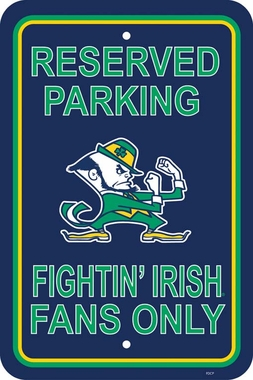 Notre Dame Plastic Parking Sign (P)