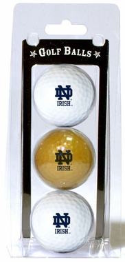 Notre Dame Set of 3 Multicolor Golf Balls