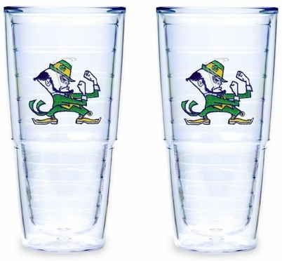 Notre Dame Set of TWO 24 oz. Big T Tervis Tumblers