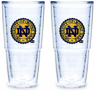 Notre Dame Set of TWO (Seal) 24 oz. Tervis Tumblers