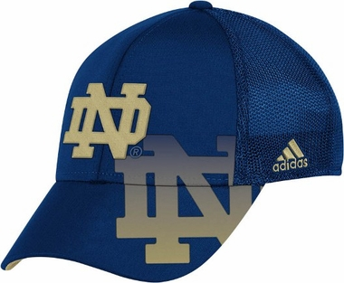 Notre Dame Shadow Logo Structured Flex Hat