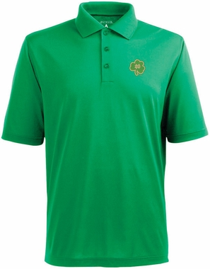 Notre Dame Shamrock Mens Pique Xtra Lite Polo Shirt (Team Color: Green)