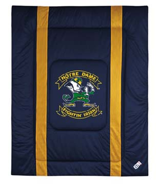 Notre Dame SIDELINES Jersey Material Comforter