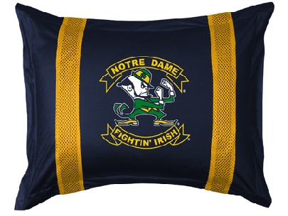 Notre Dame SIDELINES Jersey Material Pillow Sham