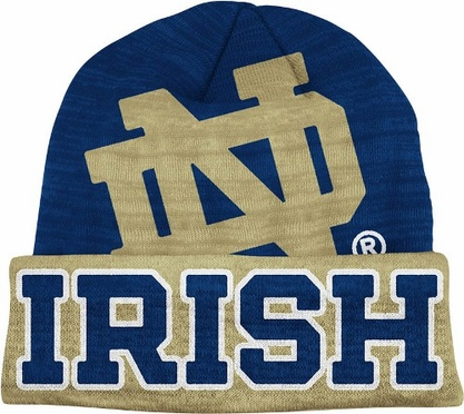 Notre Dame Slanted Logo Cuffed Knit Hat