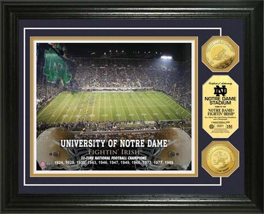 Notre Dame Fighting Irish University of Notre Dame Gold Coin Photo Mint