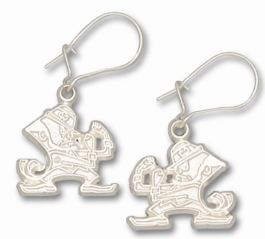 Notre Dame Sterling Silver Leprechaun Post or Dangle Earrings