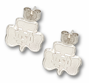 Notre Dame Sterling Silver Shamrock Post or Dangle Earrings
