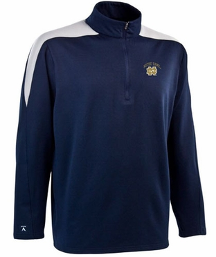 Notre Dame Mens Succeed 1/4 Zip Performance Pullover (Team Color: Navy)
