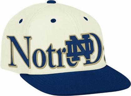 Notre Dame Team Name and Logo Snapback Hat