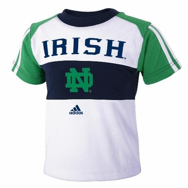 Notre Dame Toddler Mesh Crew Shirt & Shorts Set