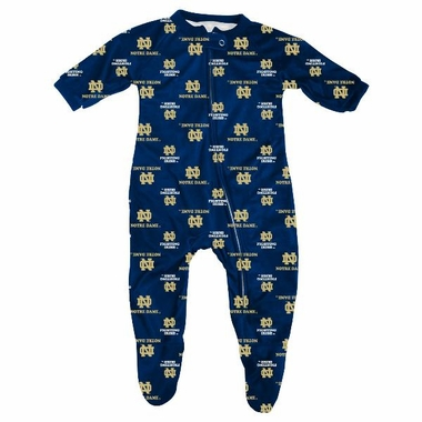 Notre Dame Toddler Zip Raglan Coverall Sleeper