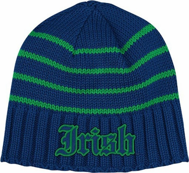 Notre Dame Vault Striped Cuffless Knit Hat