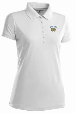 Notre Dame Womens Pique Xtra Lite Polo Shirt (Color: White)