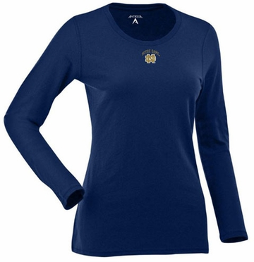 Notre Dame Womens Relax Long Sleeve Tee (Team Color: Navy)