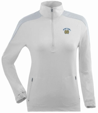 Notre Dame Womens Succeed 1/4 Zip Performance Pullover (Color: White)