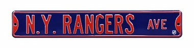 NY Rangers Ave Street Sign