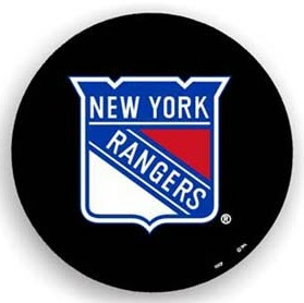 New York Rangers Black Tire Cover - Standard Size