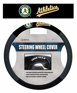Oakland Athletics Steering Wheel Cover - Mesh