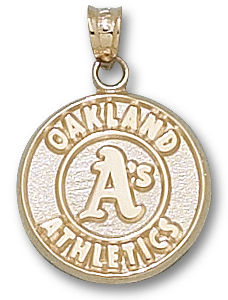 Oakland Athletics 10K Gold Pendant